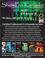 view ShowPro Karaoke service flyer
